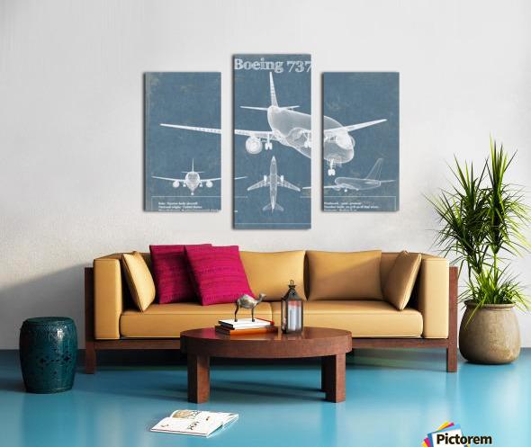 737 Canvas print