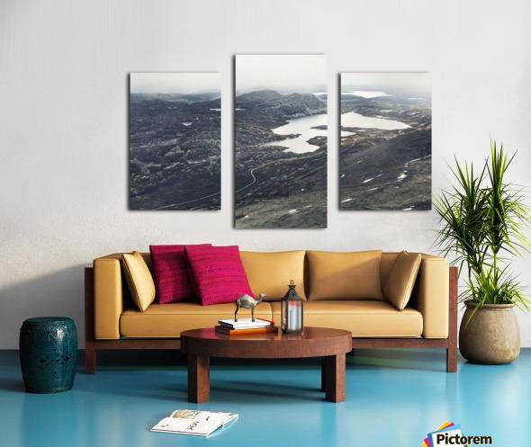 Lake stain Canvas print