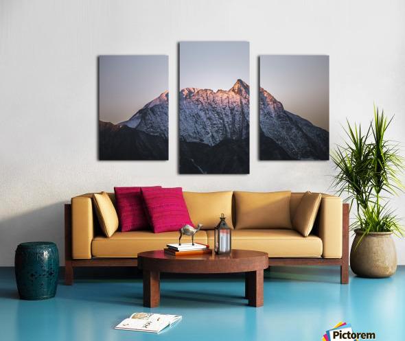Awakening of the mountain Canvas print