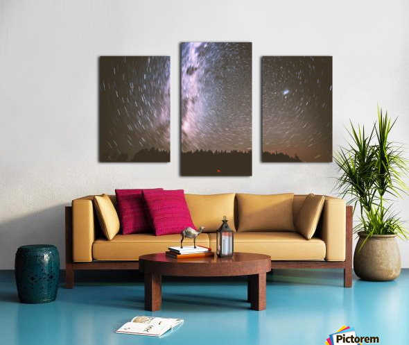 Spin of stars Canvas print