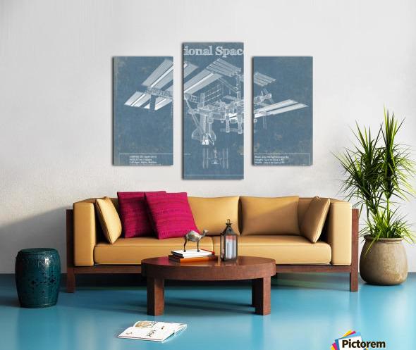 SpaceStation Canvas print