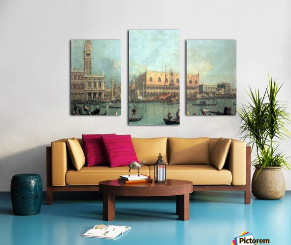 Palazzo Ducale by Canaletto Canvas print