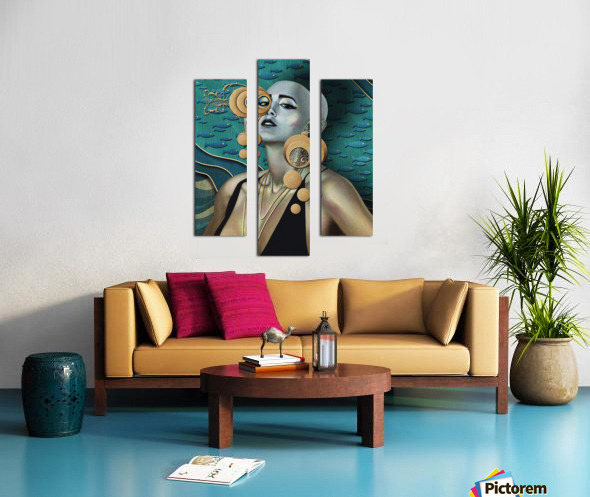 Gold Kind Of Girl Canvas print