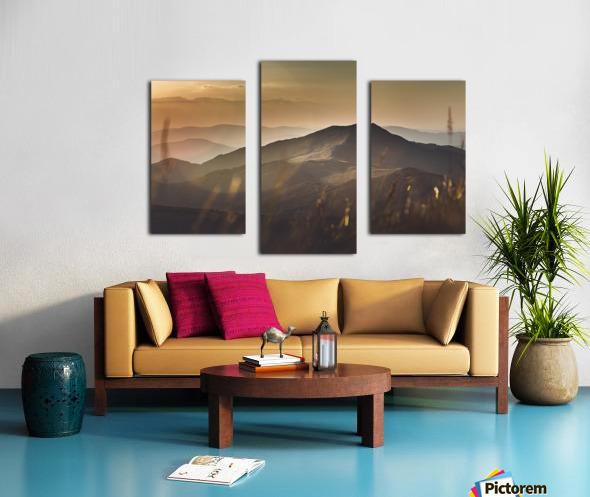 Yellow hills Canvas print