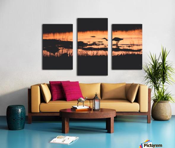 Heron hunt Canvas print