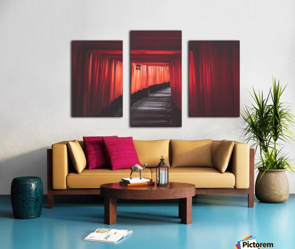 Fushimi red Canvas print