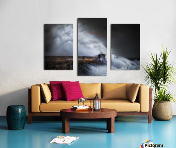 Hurricane Ophelia at Porthcawl Canvas print