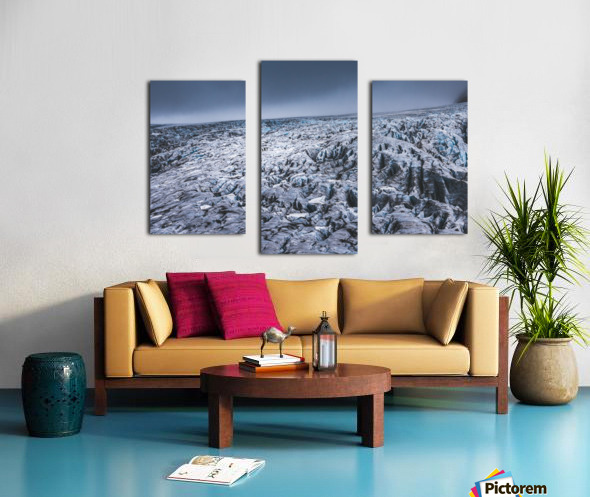 Field of ice Canvas print