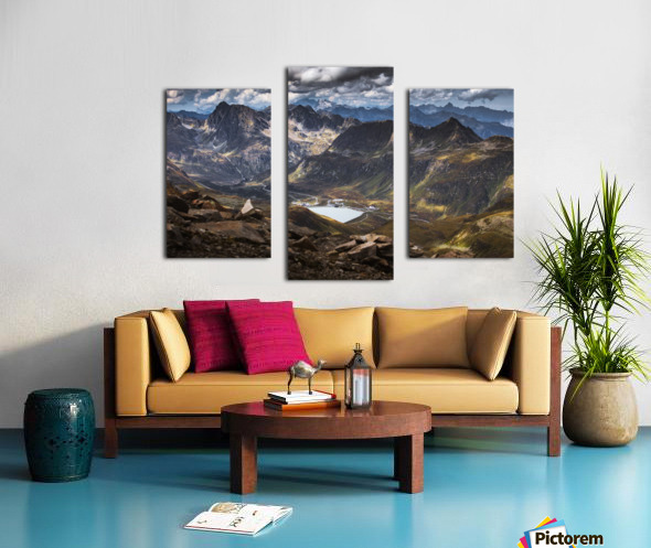 Surrounded by mountains Canvas print