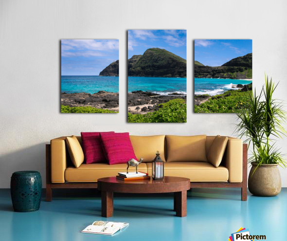 Hawaii Mountain Cliff on Coast Canvas print