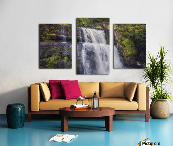The waterfall Sgwd Clun Gwyn  Canvas print