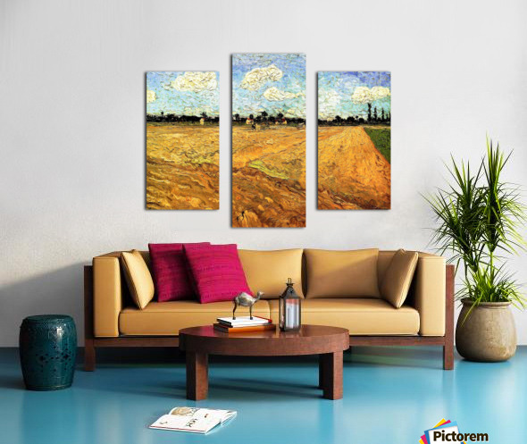 Ploughed Field by Van Gogh Canvas print