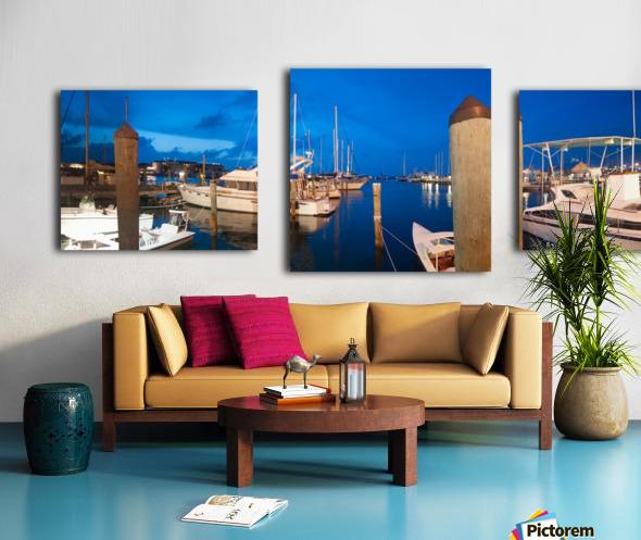 Key West Marina at Dusk Canvas print