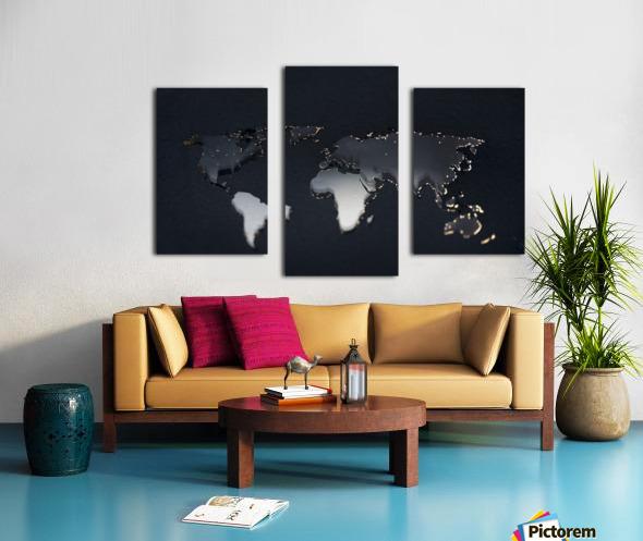 Dark Continent Jardia Canvas print
