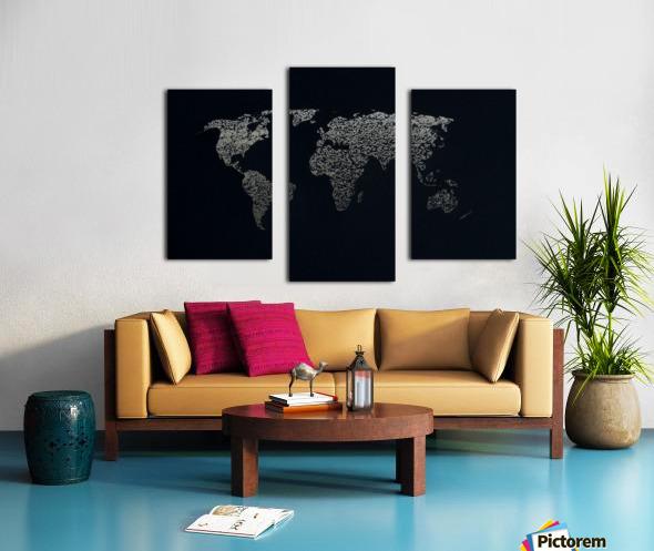 Dark Continent Ifren Canvas print