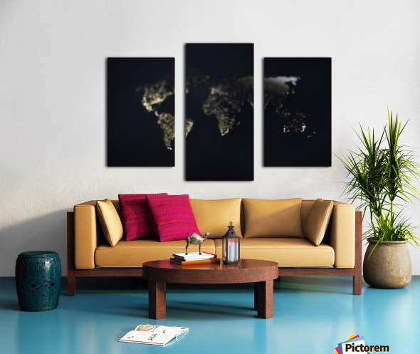 Dark Continent Heron Canvas print