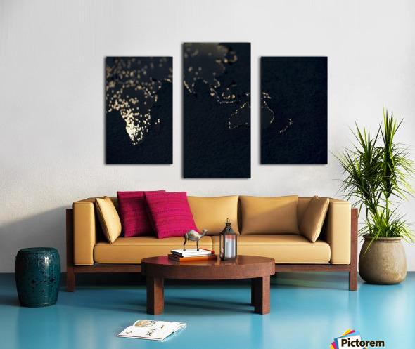 Dark Continent Erkon Canvas print