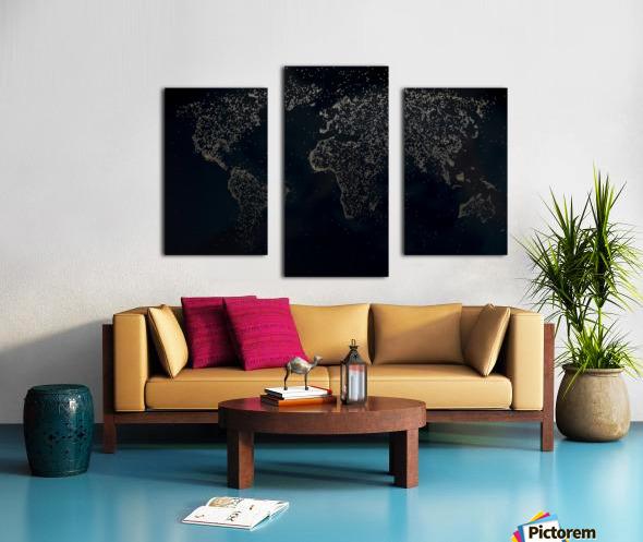 Dark Continent Milina Canvas print