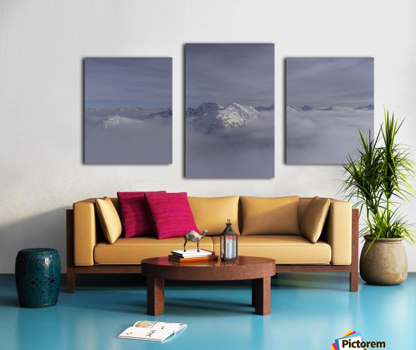 heli ski in the kootenays Canvas print