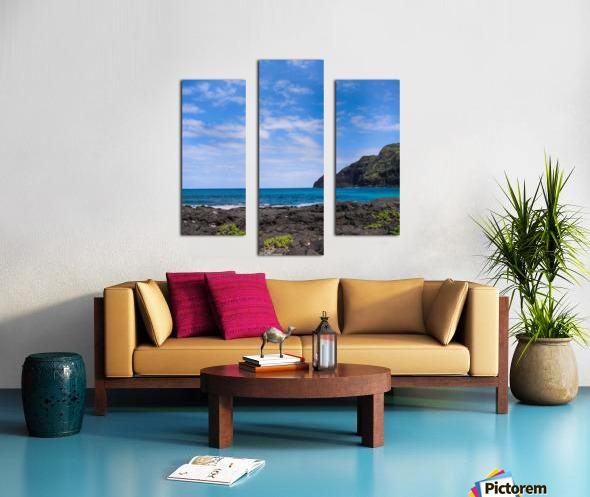 Hawaii Cliff and Coastline Square Panorama Canvas print