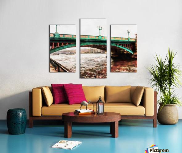 Impressions of Southwark Bridge Canvas print