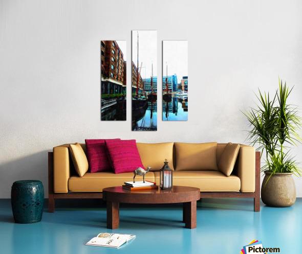 St Katharine Docks Boats 10 Canvas print