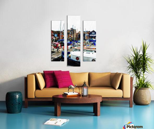 St Katharine Docks Boats 5 Canvas print