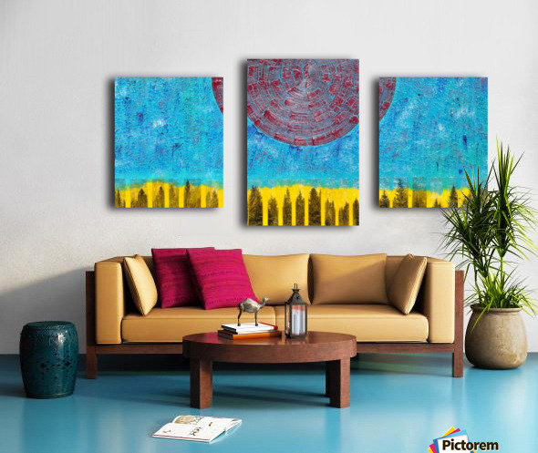 Bodies and Heart Canvas print
