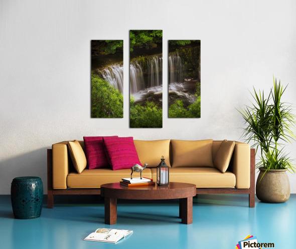 The Sgwd Isaf Clun-gwyn waterfall Canvas print