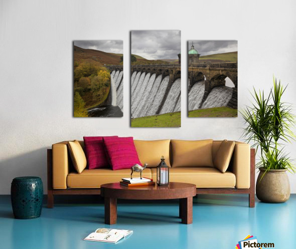 The dam at Craig Goch Canvas print