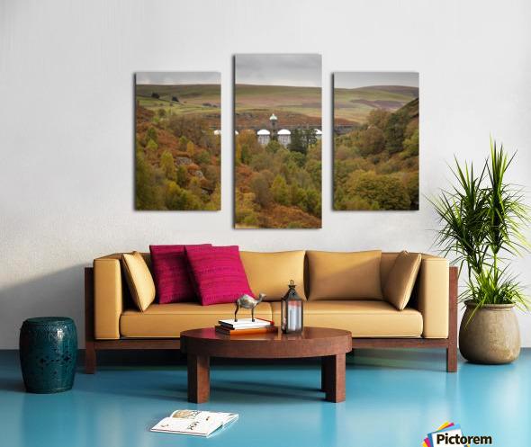 Elan Valley top dam Canvas print