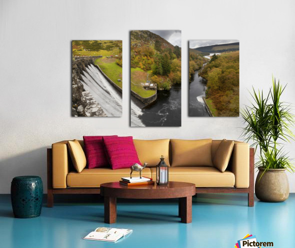 Craig Goch dam Canvas print