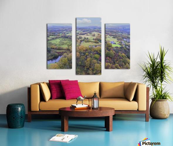 Autumn in Cwm-twrch Isaf Canvas print