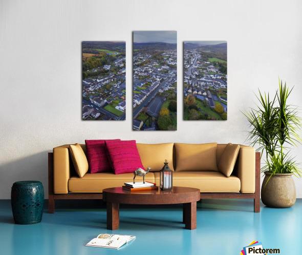 Rainclouds over Ystradgynlais Canvas print
