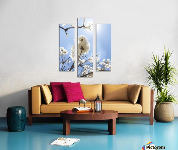 Bright white - glow Canvas print