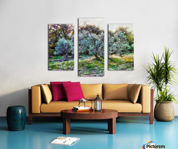 Colorful Olive Grove Canvas print