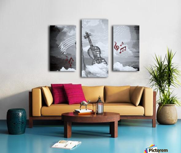 heavenly music Canvas print