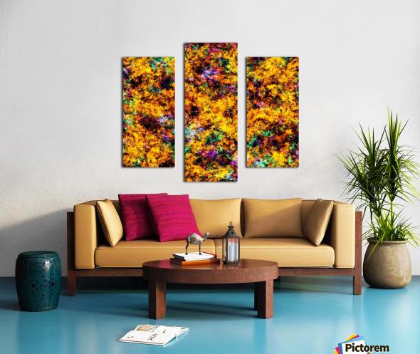 Hot yellow Canvas print