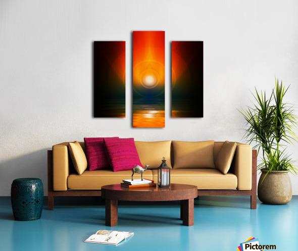 Life energy Canvas print