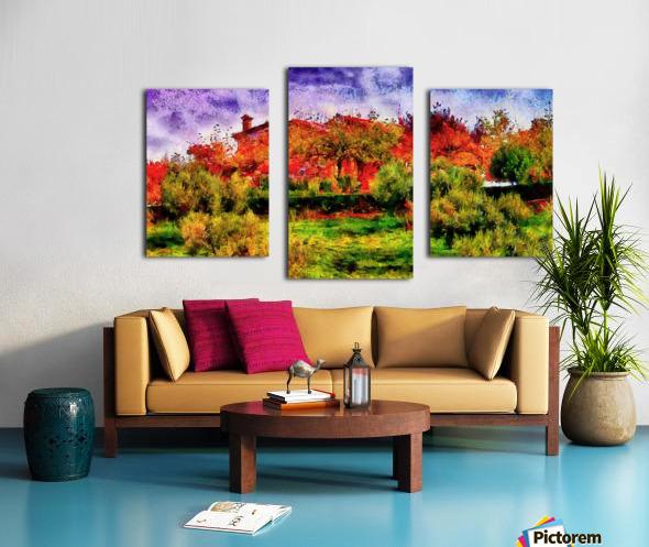 Sunset Autumn Color In Umbria Canvas print