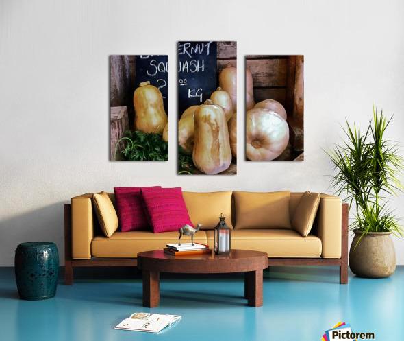 Butternut Squash Sale Display Canvas print