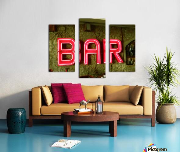 Bar Sign Canvas print