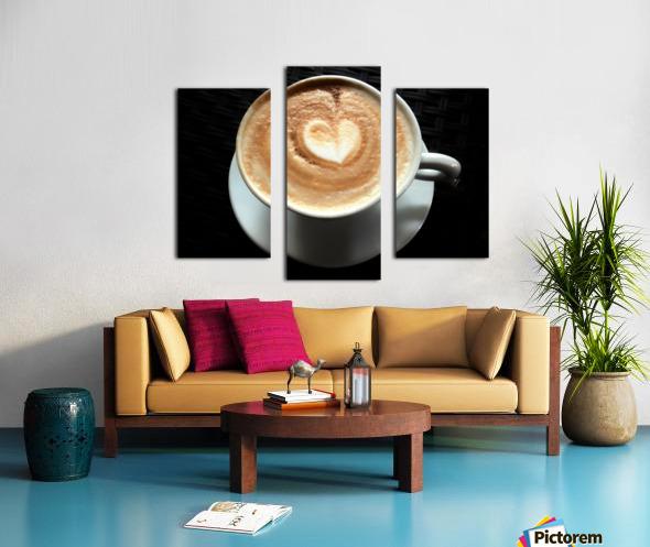 Uno Cappuccino Canvas print