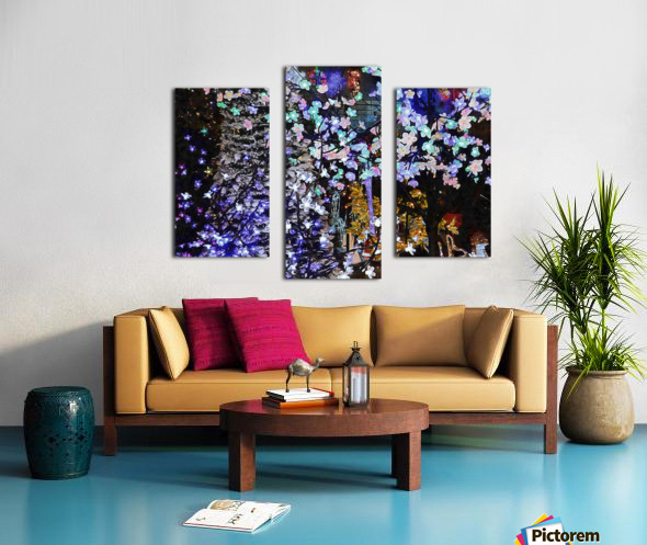Look Ma Lights Canvas print