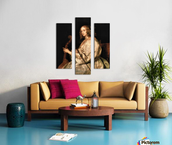 Portrait of Mary Ruthven, wife of the artist by Van Dyck Canvas print