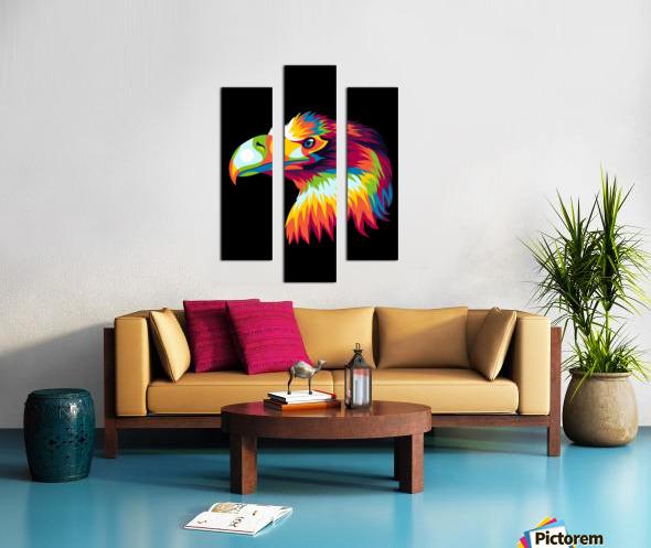 Bird of Prey in Colorful Pop Art Illustration Canvas print