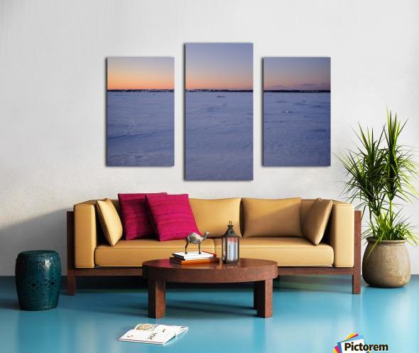 Heure bleue Impression sur toile