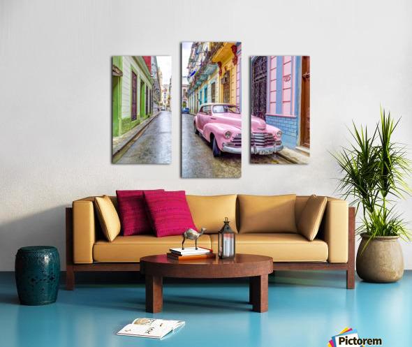 Vintage car on street of Havana, Cuba Canvas print