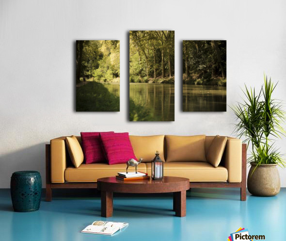 Canal  Carcassone Canvas print