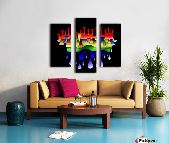 Grafenonci V4 Canvas print